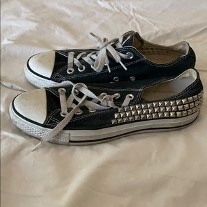 Used Studded Converse lace up shoes W. 8.5